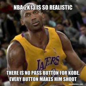 NBA 2k13 Kobe pass